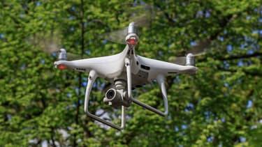 Un drone Dji Phantom actuellement testé pour la surveillance des autoroutes