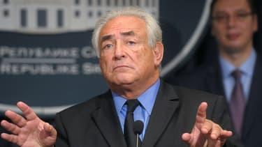L'ancien chef du FMI  Dominique Strauss-Kahn, à Belgrade, le 17 septembre 2013.