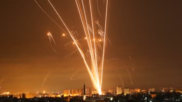 Des roquettes lancées depuis la bande de Gaza en direction d'Israël, jeudi 13 mai 2021