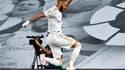 Karim Benzema buteur lors de Real-Villarreal