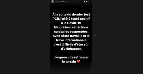 Marco Verratti sur Instagram, le 2 avril 2021