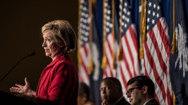Hillary Clinton en meeting.