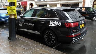 """A son """"Investor Day"""" organisé à Londres, Valeo avait ramené le dernier Audi SQ7, premier modèle équipé de son nouveau turbocompresseur à assistance électrique."""