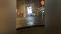 Les inondations en cours mercredi soir à Agen.