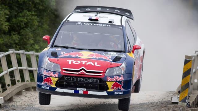 Sébastien Loeb est pour l'instant troisième du rallye de Finlande
