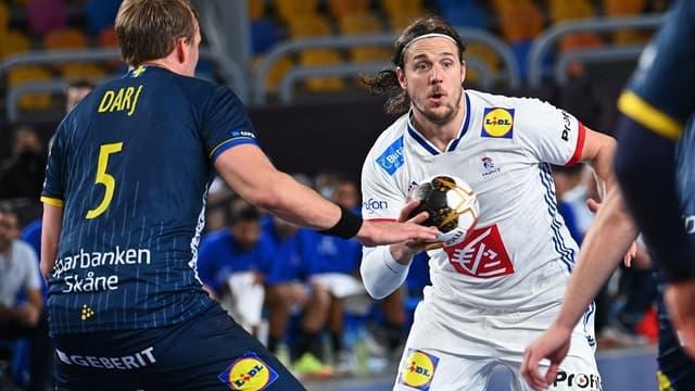 France-Suède lors du Mondial de handball, au Caire le 29 janvier 2021
