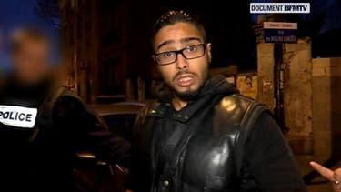 Jawad Bendaoud, devant nos caméras, au petit matin du 18 novembre 2015.