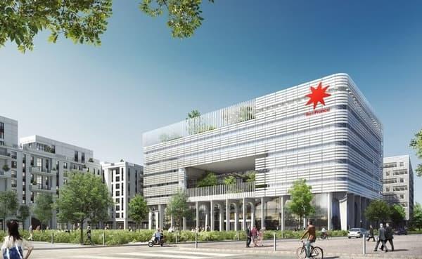 Cet ensemble immobilier situé à Saint-Ouen, en Seine-Saint-Denis, accueillera le futur siège de la région Ile-de-France.