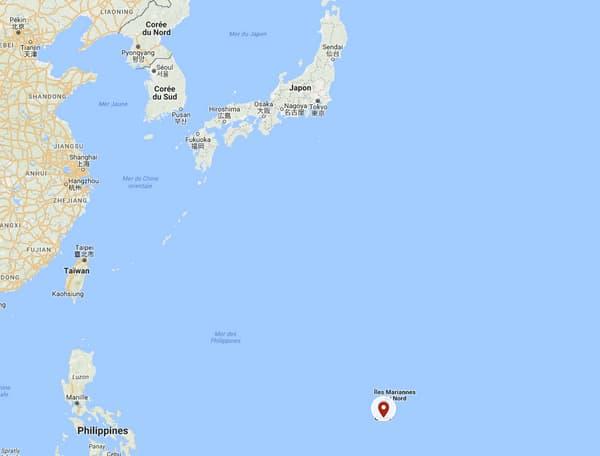 L'île de Guam est située à 3400 kilomètres de Pyongyang