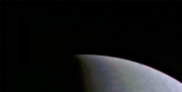 La sonde Juno a pu prendre cette photo du pôle nord de Jupiter le 27 août 2016, alors qu'elle se trouvait à 703,000 kilomètres de distance.