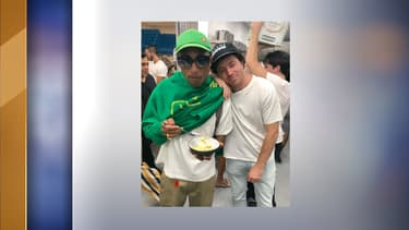 Jean Imbert et Pharrell Williams
