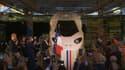 """La maquette grandeur nature de la future motrice du """"TGV M"""" inaugurée ce vendredi par Emmanuel Macron."""