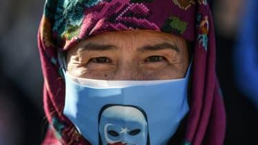 Des manifestants protestant contre le traitement des musulmans ouïghours en Chine le 1er octobre 2020 à Istanbul