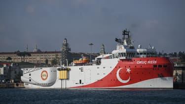 Le bateau turc Oruc Reis.
