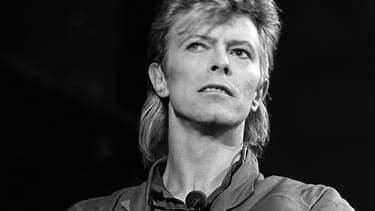David Bowie en concert à La Courneuve, le 3 juillet 1987.