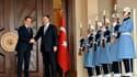 Le président français et le Premier ministre turc Recep Tayyip Erdogan. Nicolas Sarkozy et les dirigeants turcs ont fait assaut d'amabilités vendredi, sans toutefois parvenir à rapprocher leurs points de vue sur l'adhésion de la Turquie à l'Union européen