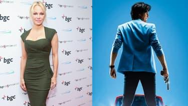 Pamela Anderson et Philippe Lacheau dans Nicky Larson