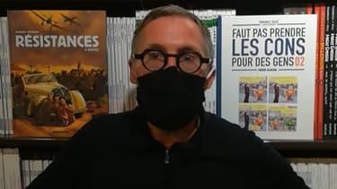 """Le gérant de librairie """"Bulle"""" au Mans"""