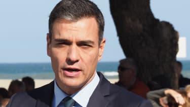 Pedro Sanchez le 24 février 2019 à Argelès-sur-Mer.