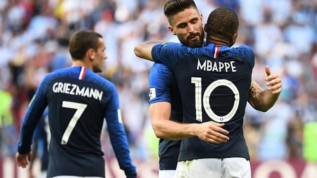 Antoine Griezmann, Olivier Giroud et Kylian Mbappé