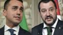 Luigi Di Maio, leader du Mouvement 5 étoiles et Matteo Salvini, chef de file de la Ligue