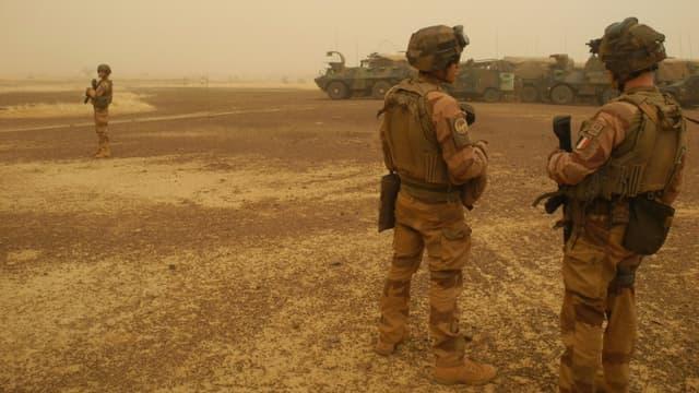 Soldats français de la force Barkhane dans la région de Gourma, au Mali, le 26 mars 2019