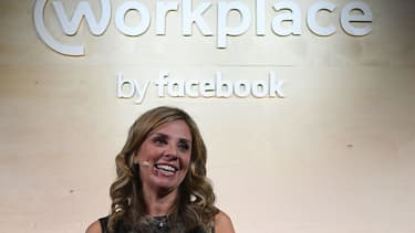 Nichole Mendelsohn, vice-présidente de Facebook Europe, lors de la présentation du projet Workplace