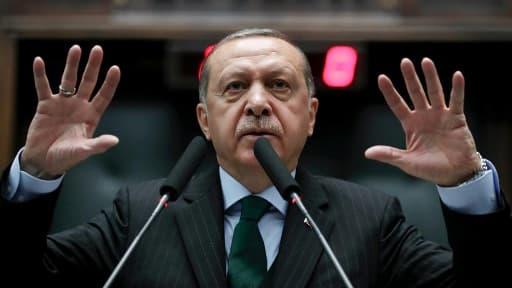 Le président turc Recep Tayyip Erdogan le 05 décembre 2017