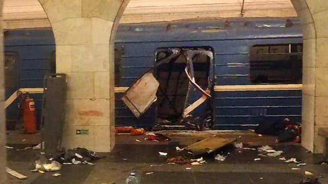 Explosion dans le métro de Saint-Pétersbourg le 3 avril 2017