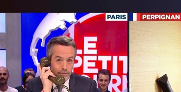 """Catherine en duplex pour """"Le Petit Journal"""""""
