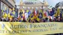 Des militants de l'Action française, le 12 mai 2013 à Paris.