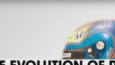 Plus de 100 ans de casque de pilote de course automobile résumés en 2 minutes et 24 secondes.