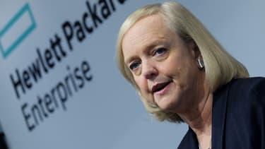Meg Whitman, poursuit le plan de réduction d'effectifs au sein d'HP.