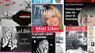 La presse rend hommage à France Gall au lendemain de sa mort