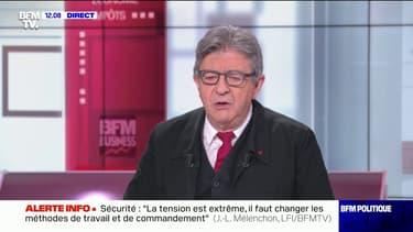 """Jean-Luc Mélenchon: """"Je désapprouve et je condamne le meurtre"""" du policier à Avignon"""