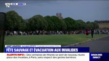 Paris: la police intervient pour disperser une nouvelle fête sauvage aux Invalides, des centaines de fêtards