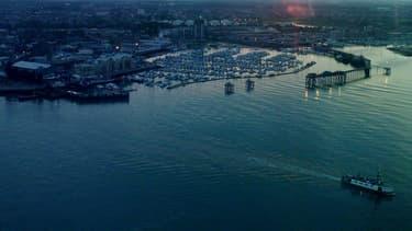 """Les """"marins"""" ont tenté de partir du port de Gosport, au sud de l'Angleterre."""