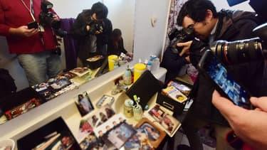 Les journalistes ont circuler dans l'appartement pendant une heure.