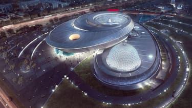 Le planétarium de Shanghai est doté d'un dôme couvrant 38 000 mètres carrés.