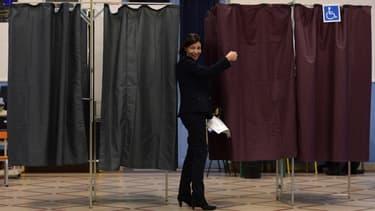 Anne Hidalgo, lors du premier tour des élections municipales en 2014.