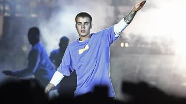 Justin Bieber en septembre 2016, en concert à Paris.