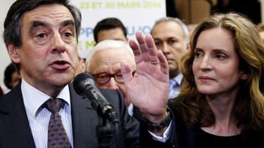 François Fillon et Nathalie Kosciusko-Morizet, le 2 décembre dernier, lors de l'inauguration du QG de la candidate.
