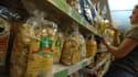 Image d'illustration - Le rayon pâtes d'un hypermarché.