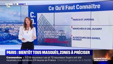 Dans quelles zones le masque va-t-il devenir obligatoire à Paris ?