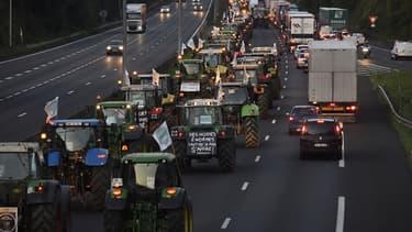 Une manifestation d'agriculteurs