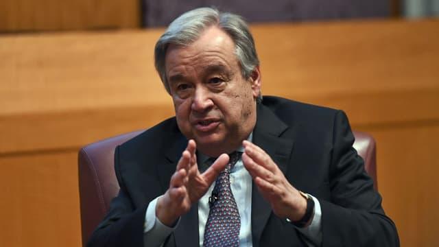 Le secrétaire général de l'ONU Antonio Guterres, le 30 mai 2017 à New York.
