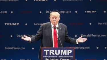 Donald Trump en meeting pour la primaire républicaine