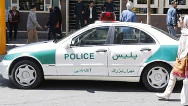 Voiture de police à Téhéran. (Photo d'illustration)