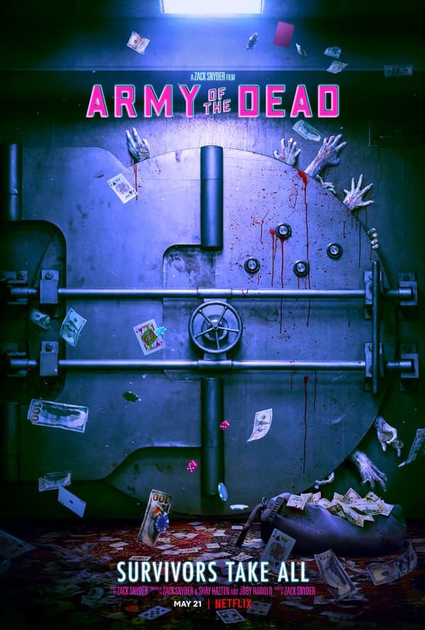"""Affiche du nouveau film de Zack Snyder, """"Army of the Dead"""""""