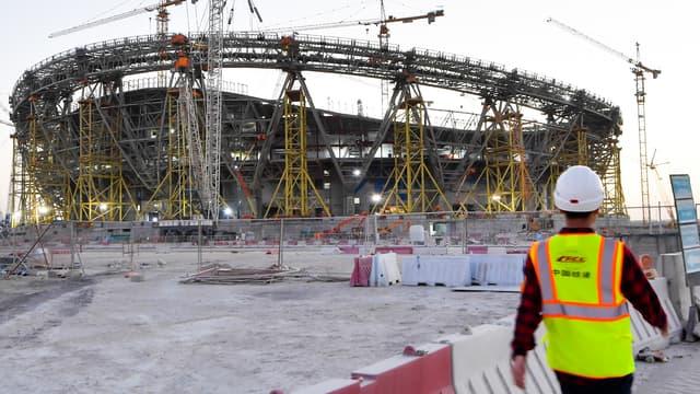 Les travaux d'un stade pour le Mondial au Qatar en février 2020